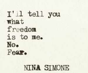 fear, freedom, and quote image