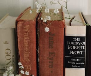 books, poetry, and robert frost image
