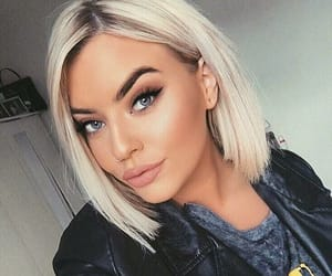 beauty, girl, and makeup look image
