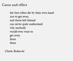 text, charles bukowski, and suicide image