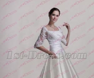bridal, beach wedding dress, and gown image
