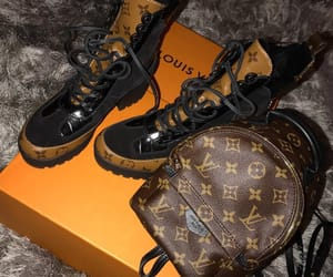 bags, boots, and Louis Vuitton image