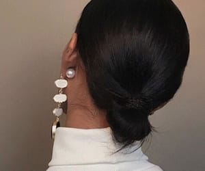 hair, fashion, and earrings image
