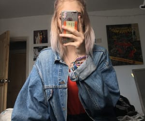aesthetic, clothes, and denim jacket image