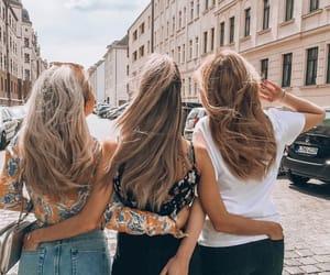 besties, blonde, and friendship image