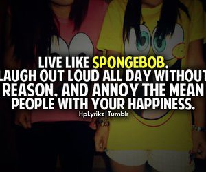 spongebob, quote, and happiness image