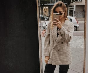 blazer, fall, and fashion image