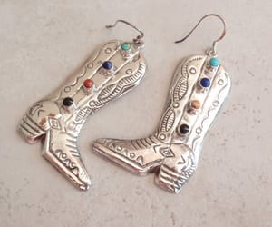 etsy, sterling silver, and large drop earrings image