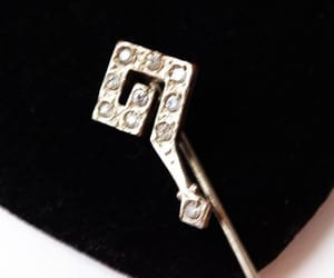 etsy, vintage hat pin, and question mark pin image