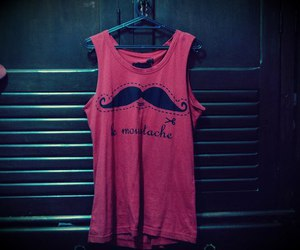 fashion, girl, and moustache image