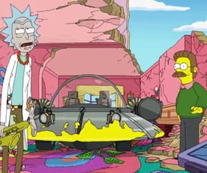 funny, rick, and the simpsons image