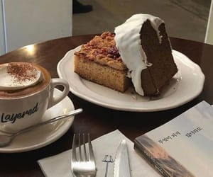 cake, coffee, and eat image