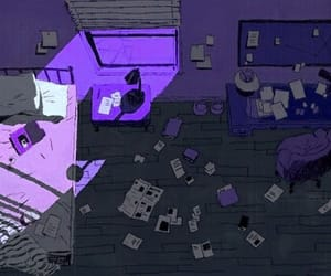 aesthetic, bedroom, and purple image