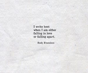 quotes, writing, and love image