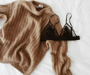 fashion, sweater, and bralette image