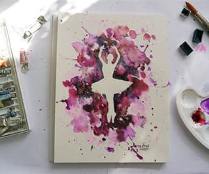 aquarell, art, and diy image