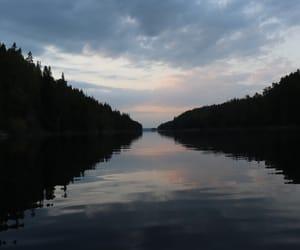 nature, mirror lake, and värmland image