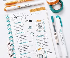 school, bullet journal, and study image