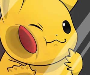 background, yellow, and pikachu image