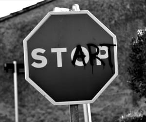 black, start, and stop image