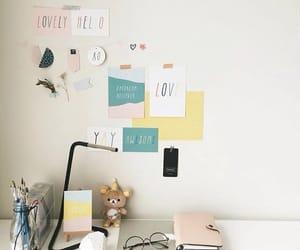 book, desk, and school image
