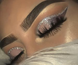 makeup, glitter, and highlight image
