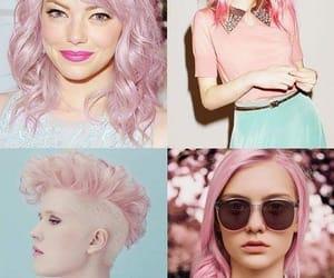rosa, pelo rosa, and rose image