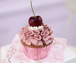 cherry, cake, and cupcake image