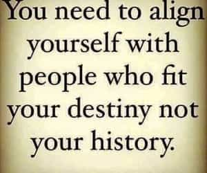 quote, reminder, and destiny not history image