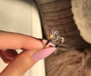girl, ring, and diamond image