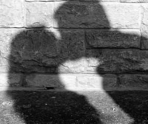 couple, kiss, and shadow image
