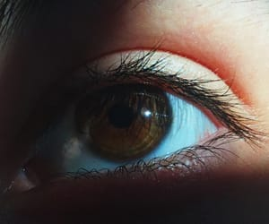 brown, eye, and light image