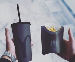 black, McDonalds, and food image