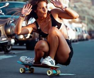 board, goal, and skateboarding image