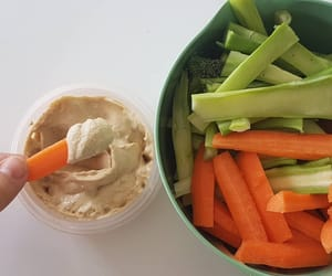 broccoli, carrots, and dip image