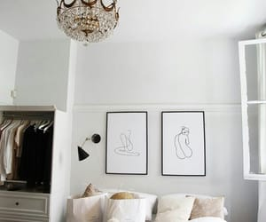 art, bedroom, and decor image