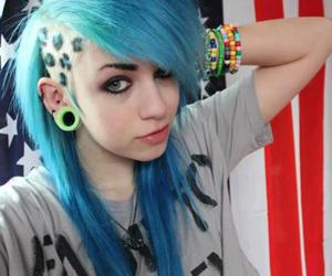 blue, blue hair, and emo image