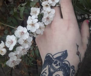 cherry blossom, ethereal, and hand tattoo image