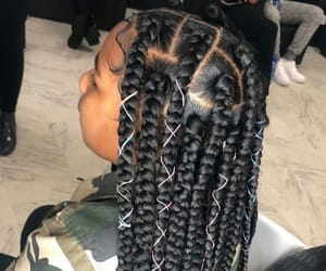 braiding, braids, and hair image