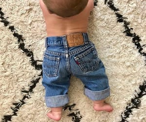 baby, jeans, and outfit image