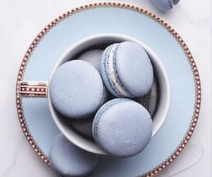 blue, ‎macarons, and food image