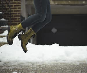 boots, winter, and faceless image