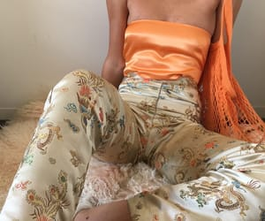 fashion, flowers, and orange image