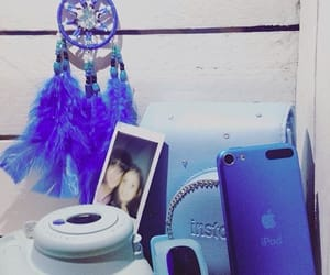 blue, instax, and ipod image