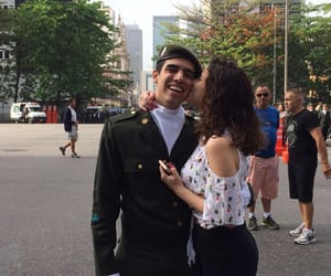 boyfriend, military, and sweet image