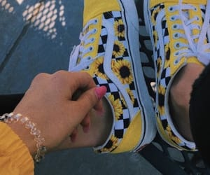 shoes, vans, and yellow image