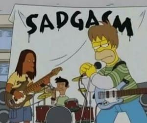 grunge, simpsons, and sadgasm image
