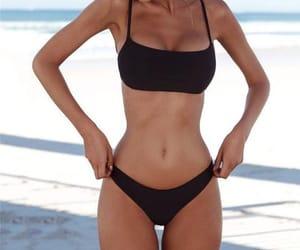 body, beach, and bikini image