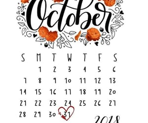 calendar, october, and orange image