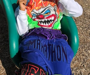 aesthetic, clown, and playground image